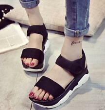 Womens ladies College Casual Flats Platform Wedge Heels Sandals Sport Shoes
