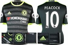 *16 / 17 - ADIDAS ; CHELSEA 3rd KIT SHIRT SS + PATCHES / PEACOCK 10 = KIDS SIZE*