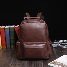 Men Bag Leather Backpack Rucksack Travel School Laptop Messenger Vintage Bags