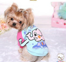 Dog Hoodie Pet Clothing Puppy Coat Warm Apparel Small Medium Clothes Pink Blue