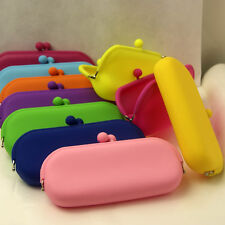 Rubber Silicone Pouch Purse Wallet Glasses Cellphone Cosmetic Coin Bag Case Good
