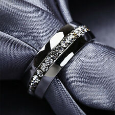 Titanium Steel Engagement Band Men/Womens Fashion Jewelry Wedding Ring Size 4-13