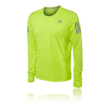 Adidas Response Mens Yellow Climalite Long Sleeve Crew Neck Sports Top