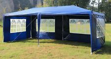 3x6m Gazebo Outdoor Marquee Tent Canopy in Blue, Green, White