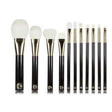 High Quality Professional Goat Hair 11pcs Makeup Brushes Set Cosmetic Tools Kit