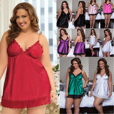 Sexy Plus Size Womens Lingerie Lace Dress Babydoll Underwear Nightwear Sleepwear