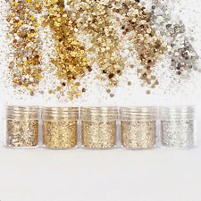 R Nail Glitter Dust Powder Sequins Sheets Tips Nail Art Manicure 3D Decoration