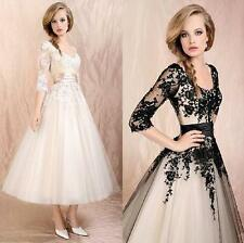Womens lady Wedding Dress Lace Prom Ball Cocktail Party Bridal Formal Evening