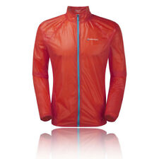 Montane Featherlite 7 Mens Red Orange Windproof Outdoors Zip Sports Jacket Top