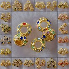h2001-2022 10x5 Wholesale Multi-color Crystal Spacer Gold Bead Findings