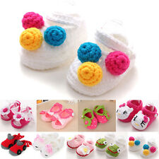 Handmade Newborn Baby Infant Boys Girls Crochet Knit Booties Crib Casual Shoes