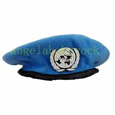 CHINESE THE UNITED NATIONS PEACEKEEPING FORCES BERET HAT CAP BADGE SIZE XL-0389