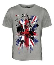 UNION JACK ABSTRACT PRINT MENS T-SHIRT GREAT BRITAIN FLAG UK UNITED KINGDOM TOP
