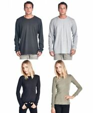 NEXT LEVEL ASSORTED MENS WOMENS THERMAL T-SHIRT LONG SLEEVE MIXED COLOR SIZE LOT