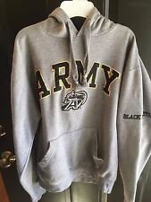 Army Black Knights Embroidered Hoodie by OVB, Pre-owned, Men's Medium, Gray