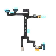 Power Mute Volume Button Switch Connector Flex Cable For Apple iPhone 5 FY