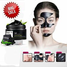 Face Mask Nose Blackhead Acne Pore Deep Remover Cleansing Strip Black Mud Lot LX