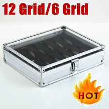 12 Grid Slots Jewelry Watches Display Storage Box Case Aluminium Square Hot FY