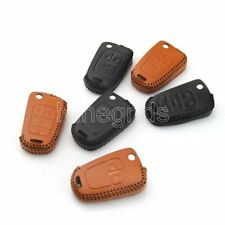 2/3/4Button Leather Key Case Holder Black Brown Keychain Shell Bag For Chevrolet
