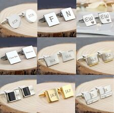 Personalised Engraved Cufflinks For Men Birthday Wedding Gift Him Fathers Day