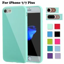 Soft Silicone Rubber Shockproof Jelly Case Cover for Apple iPhone7 iPhone 7 Plus