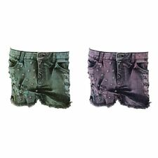 Brave Soul Ladies/Womens Studded And Frayed Denim Hot Pants