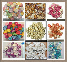 """100 X Mulberry Daisy Paper Flowers Embellishment Cardmaking Scrapbooking size 1"""""""