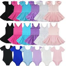Baby Kids Girls Leotard Ballet Dance Gymnastics Tutu Skirt Dress Party Dancewear