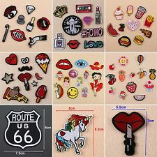 Punk Embroidery Iron Sew On Patches Badge Fabric Bag Clothes Craft DIY Applique