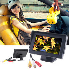 "4.3"" TFT LCD Car Monitor Reverse Rearview Color Camera DVD VCR CCTV TOP XC"