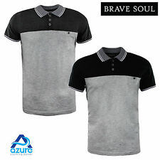 Mens Polo Shirt by Brave Soul Short Sleeved Collared Casual Summer Top S-XL