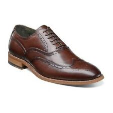 Stacy Adams Mens Dunbar Shoes antiqued leather Brown wingtip oxford 25064-200
