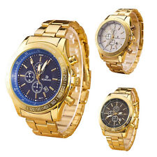 Mens Watches Sport Genuine stainless steel Business Male Watches Quartz gold ...