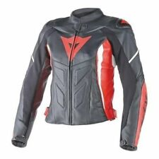 Dainese leather jacket G. AVRO D1 Lady Pelle nero rosso bianco, NEW!