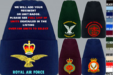 UNITS A TO D UK & FOREIGN ARMY ROYAL AIR FORCE NAVY REGIMENT BEANIE WOOLLY HAT