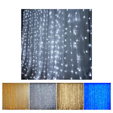 20 ft x 10 ft LED Lights Organza Backdrop Curtain
