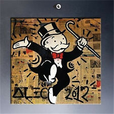 Alec monopoly Sir HUGE OIL PAINTING MODERN ABSTRACT WALL DECOR ART ON CANVAS