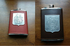 Personalized Flask, 9 oz Flask, Coat of Arms, Stainless Steel, Armenian Flask