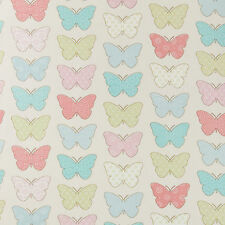 Duck Egg Pink Chic Butterflies Wipeclean PVC Oilcloth Tablecloth Multiple Sizes