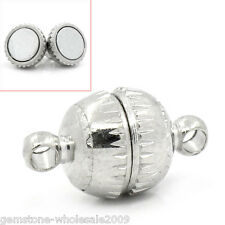 Wholesale 10-1000 Lots Silver Tone Magnetic Clasps Findings 14x8mm GW