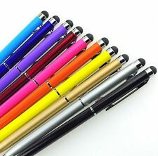1/5/10PCS 2 In1 Touch Screen Stylus Ballpoint Pen For IPhone Smartphone Lot