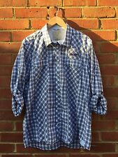 Mens Pepe Jeans 73 Check Long Sleeve Button Up Slim Fit Casual Shirt - Blue XL