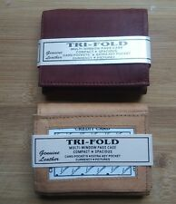 Tri-fold Brown and Tan Genuine leather wallets