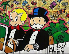 Alec Monopoly  Handcraft Oil Painting on Canvas Urban art Decor Driving Dillon