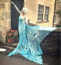 FJ711 Movies Frozen Snow Queen ELSA Cosplay Costume Dress CUSTOM tailor HANDMADE