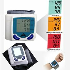 Digital LCD Wrist Blood Pressure Monitor Heart Beat Rate Meter Machine Pro YL