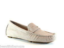 Cole Haan Trillby Driver Metallic Lizard Suede Leather Loafer D42500 NEW Size 10