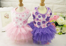 Small Medium Cute Dress Dog Clothes Cat Pet Puppy Tutu Dress Lace Skirt Apparel