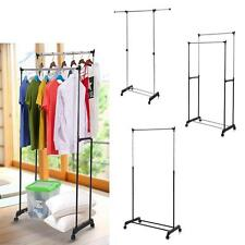 Commercial Rolling Garment Rack Heavy Duty Clothes Display Shelf Hanger N0Y8