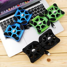 Mini Portable USB Cooler Cooling Pad with 2 Fans For Laptop Notebook PC black RX